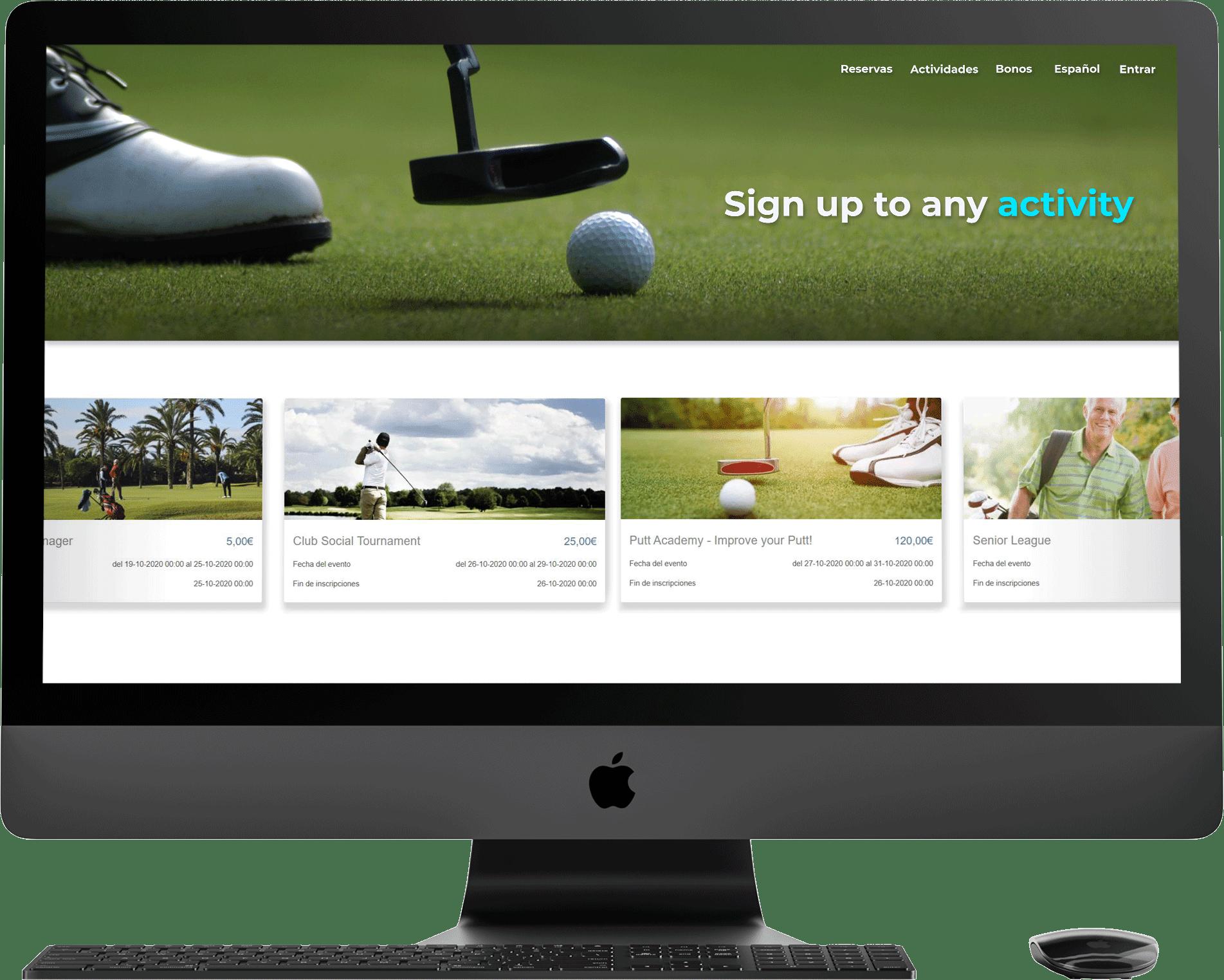 Golfmanager software de gestión de campos de golf
