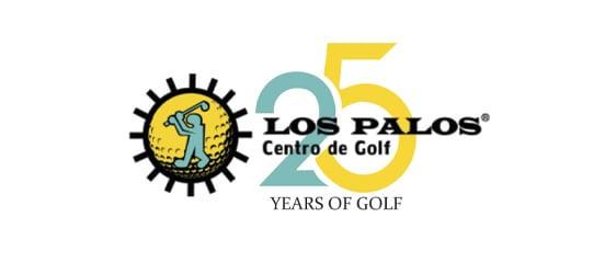 logo los palos golf 25 aniversario