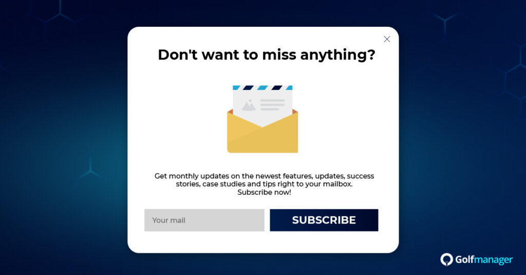Subscribe newsletter Horizontal