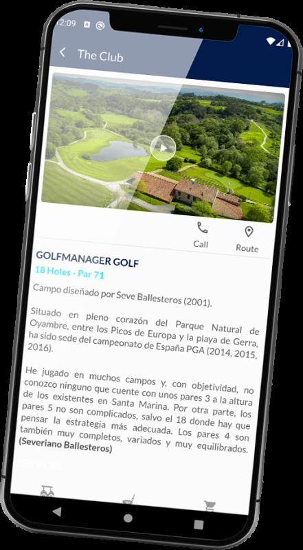 golfmanager app campo de golf