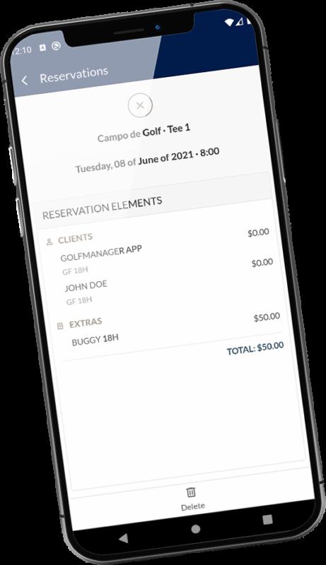 golfmanager app reservas